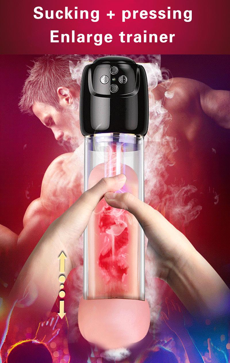 Penis Pump Vacuum Vibrator Penis Enlargement Extender Sex Toys for Men Real Vagina Masturbation Adult Toys for Man Sex Shop 1