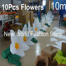 Decoration Wedding Inflatable Flowers(10m)Include 10 pcs flowers