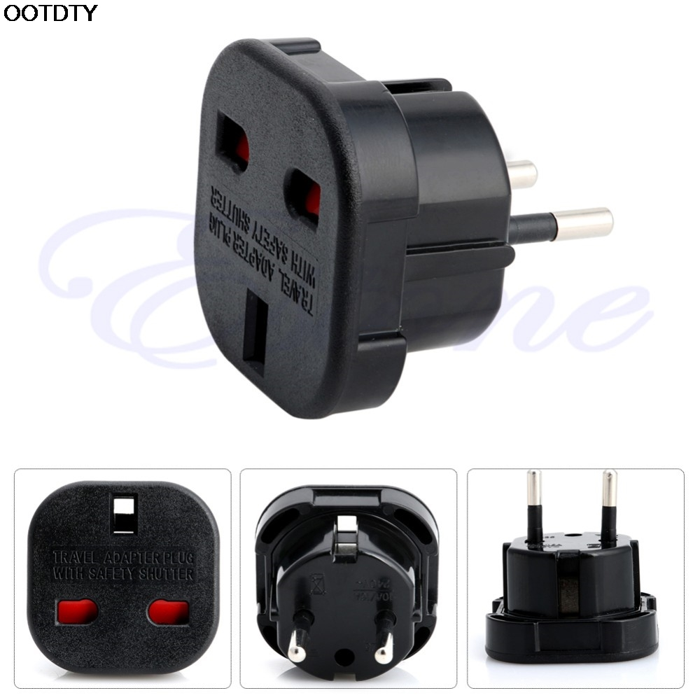 Arrival for UK to EU 2 Pin Euro Europe AC Travel Power Adaptor Plug Socket Adapter Convertor - L060 New hot