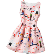 Buy Summer Baby Girls Vintage Print Dress 12 Years Old Girls Kids Party Dresses Girl Clothes Colorful Children Princess Costume for $6.96 in AliExpress store