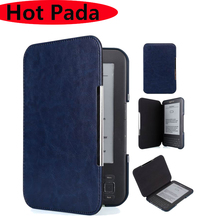 Hot Pada Hot Pada magnetic PU leather case for Amazon kindle 3 3rd generation keyboard ereader cover +screen protector(China)