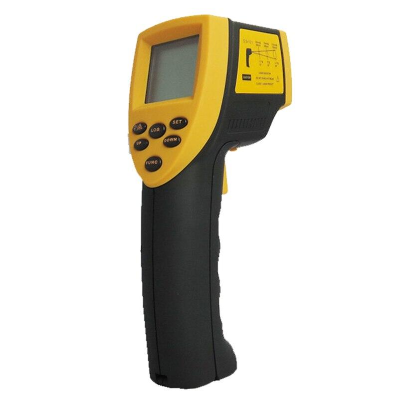 Free shipping infrared thermometer TECMAN TM330 -50-330C non-contact infrared thermometer Far red line temperature measuring gun<br><br>Aliexpress
