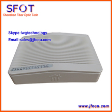 FTTH GPON ONU 4Eth+2Voice+Wifi Function., Compatible With ZTE/ Fiberhome OLT.