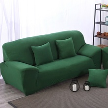 Dark Green Elastic Sofa Cover Fabric Stretch Cushions Universal Armchair Furniture Covers Elastic Case Dustproof Change New Sofa