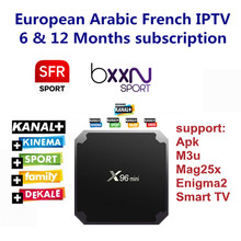 Android TV Box with 1000+ Channels European Europe Arabic French Belgium IPTV Code Live TV Smart TV box for France Belgian Arab(China)