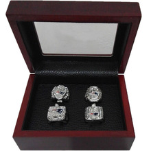 Alloy Rings Sets for Replica Super Bowl 4 Years Sets 2001/2003/2004/2014 New England Patriots Championship Ring With Wooden Box(China)