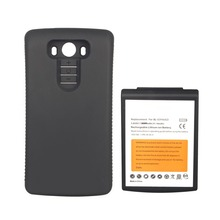 High Capacity 8000mAh Replacement Battery For LG G3 BL-53YH Battery With Black Phone Cover Case(China)