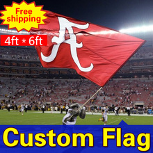 4ft*6ft Freeshipping Custom Flags and Banners Double Sided Flag Any size Any Color Any Logo FlagsSport Flags Corporate Flags(China)