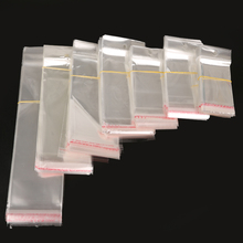 100 pcs Transparent Self Adhesive Seal Plastic Storage Bag OPP Poly Pack Bag Retail Packaging Pouch With Hang Hole(China)