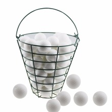 CRESTGOLF Metal Golf Basket Golf ball Container Golf Accessories--- can store 50pcs golf balls(China)