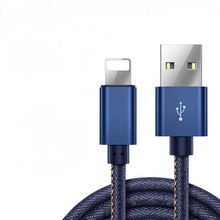 Cowboy Canvas Creative Data Transfer Cable,Double-Sided Plug Computer Cables Connector Mobile Phone Cable For Andrews IPhone 1M