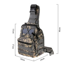 Men's 1000D Nylon Waterproof Outdoor Sport Shopping Camping Hiking Bags Messenger Bag Leisure Camouflage Tactical Shoulder Bag(China)