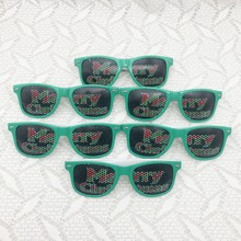 6pcs/lot Christmas Party Theme Sunglasses Photo Prop Christmas Party Decoration Printed Party Sunglasses(China)