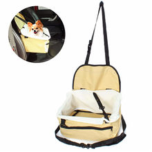 Fashion Useful Portable Pet Soft Car Booster Seat Soft Safety Dog Cat Puppy Carrier Cage Travel Tote Bag Basket Luggage