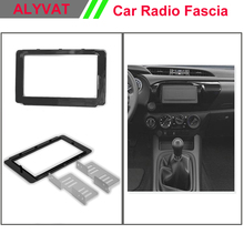 Car Stereo Radio Fascia Plate Panel Frame Kit For Toyota Hilux 2015+ Stereo facia surround install trim fit Dash Kit(China)