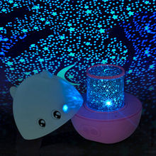 Blue/Pink/Rose Mini Pig Shape Rotating Sky Star LED Projector Night Light with Speaker remote control