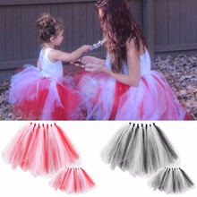 2Pc Mom and Girl Tutu Skirt Dress Mother Daughter Princess Dresse Family Matching Clothes Baby Girls Mommy Skirt Photo props