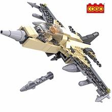 208PCS COGO Blocks F-16 Fighting Falcon Fighter Model Building Brick Block Toys Educational DIY Set Christmas Toys For Children(China)