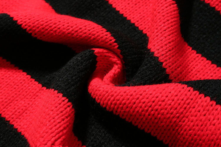 Ripped Stripe Knit Sweaters 8