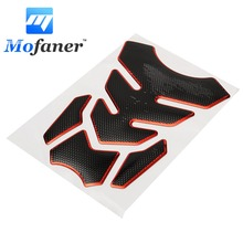Universal Red Motorcycle 3D Rubber Sticker Gas Fuel Oil Tank Pad Protector Cover Decals