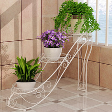 European style Trapezoidal design high heels 3 layers flower pot racks, firm and strong bearing capacity(China)