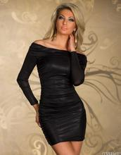 Buy Sexy Strapless Leather Look Dresses Robe Sexy Club Erotique Nightclub Clothes Sex Erotic Leather Lingerie Sexual Hot WL188