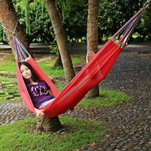 Portable Nylon Hammock Outdoor Garden Hammock Hang BED Travel Camping Swing Canvas Material Colorful Pattern Sleeping Bed Tools