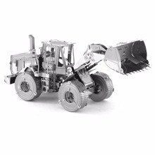 3D Metal Puzzles CAT wheel loader Toys 3D Metal Model NANO Puzzles New Styles Chinses Metal Earth DIY Creative Gifts