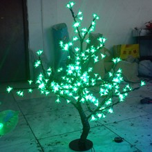 0.8M /2.6ft height LED Cherry Blossom Tree Outdoor indoor Wedding Garden Holiday Light Decor 240 Green LEDs