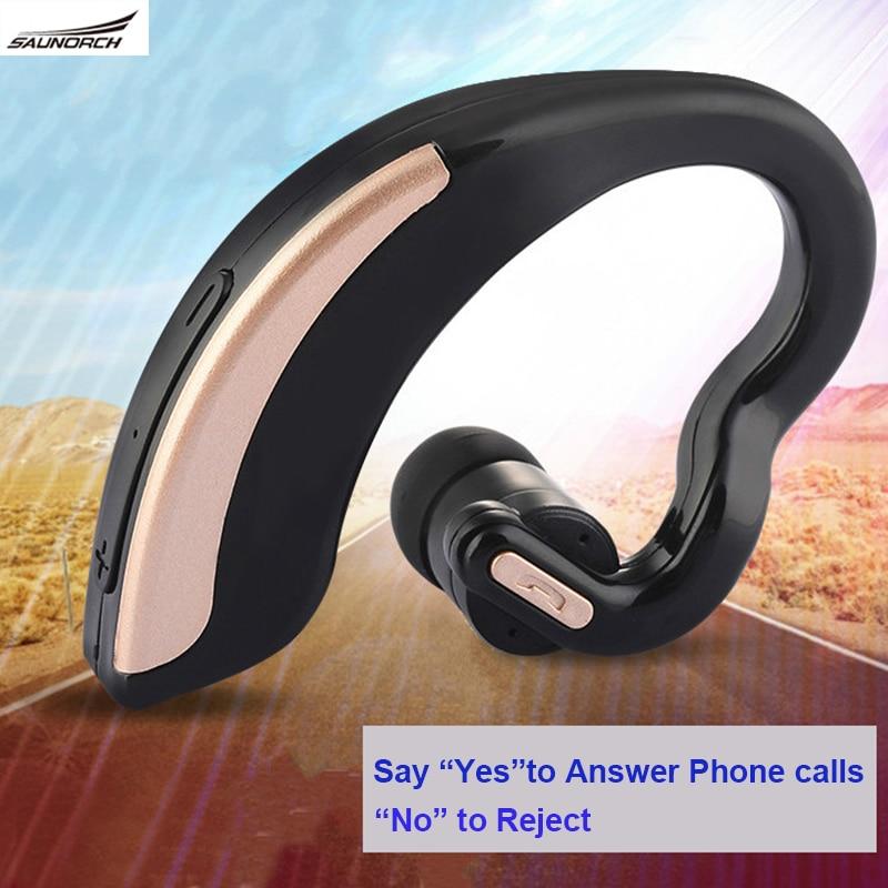 Bluetooth Headset 4.0 Earphone Voice Control  Headphone V18  Mic HD Sound Stereo Wireless Ear-hook Earphone For iPhone 7 Samsung<br><br>Aliexpress