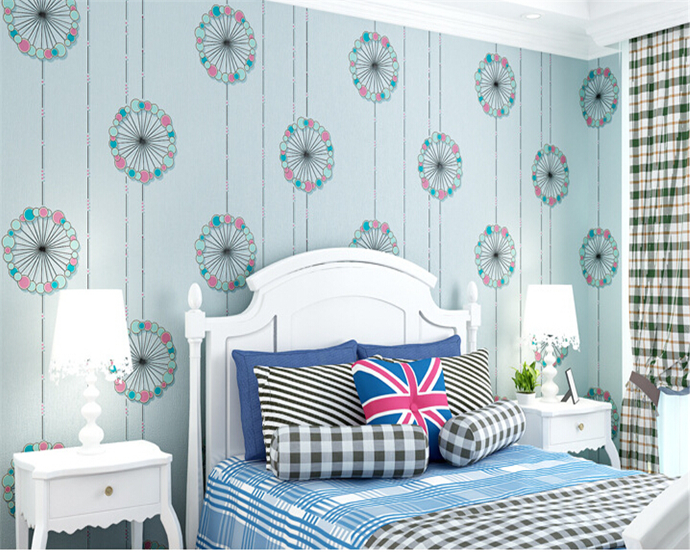 beibehang Safety and health of modern fashion romantic colorful bedroom living room TV background wallpaper papel de parede 3d<br>
