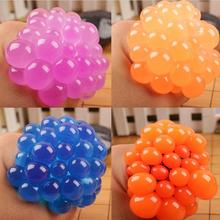 2017 Hot Sale Squishy Mesh Squeeze Ball Stress Relief Hand Fidget Sensory Autism ADHD Fun EDC Toy