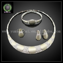 Free shipping stylish fake gold jewelry set for women party  FHK608