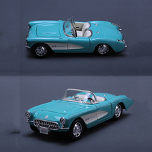 1/24 Original Maisto Chevrolet Corvette Turquoise 1957 Diecast Light Blue Car Model NEW Gifts Collections Displays