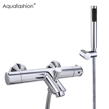 Buy Shower Faucets Thermostatic Shower Thermostatic Mixing Valve Bathroom Faucet Shower Head Mixer Faucet for $66.74 in AliExpress store