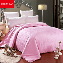 100% Cotton Jacquard Inner Duvet Cover for DIY Silk Quilt Twin Full Queen King White Pink Model 01(China)