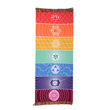 Floral Printed Bohemian Beach Towel Rectangle Tassel Tapestry Rainbow Color Yoga Mat High Water Absorbent Mattress Sleeping Pad(China)