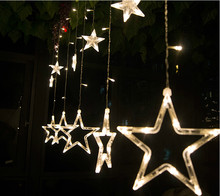 2 M LED star curtain lights with  12 stars ,led net lights ,wedding and holiday led string CL-011