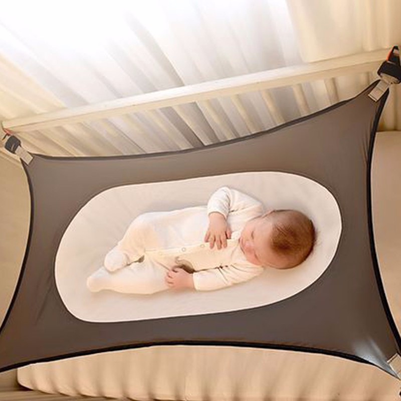 Newborn Indoor Baby Sleeping Aerial Hammock Durable Safety High Strength Infant Hamac Cotton Material Cot Beds For Home 117*75cm<br>