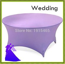 Purple spandex table cloth cheap round banquet for home free shipping(China)