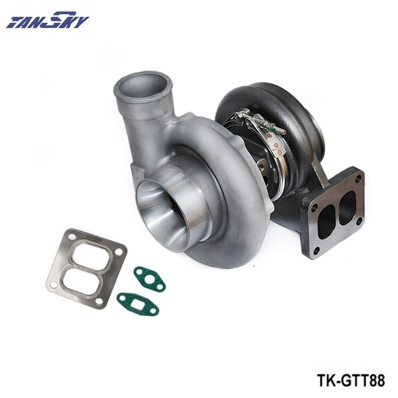 TANSKY - Racing T88 Turbocharger A/R 0.6 T25 Twohole V-band Water Cooler TK-GTT88