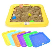 Sand Toys Inflatable Tray Castle Mobile Table Multi-Function Sand Mold Plastic Children Kids Clay Color Mud Indoor Play Sand