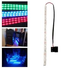 High Quality 60CM 5050 SMD PC Computer Case Waterproof Flexible Strip Tape Light DC12V Red Blue Green For Your Choice #49842