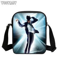 VEEVANV New Fashion Casual Small Crossbody Bag Michael Jackson Style Printing Men's Messenger Bags for Boys School Shoulder Bags