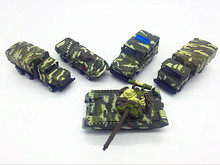 5pcs 8cm Alloy Car Model Military Truck Trolley T90 Armored Car Child Toy Car Pocket Scooter Auto Model Toy(China)