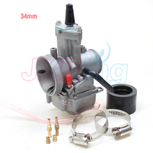 34mm Carburetor OKO CARB PWK Performance With Power Jet flat slide For Koso OKO Keihin GY6 Dio CR DT(China)