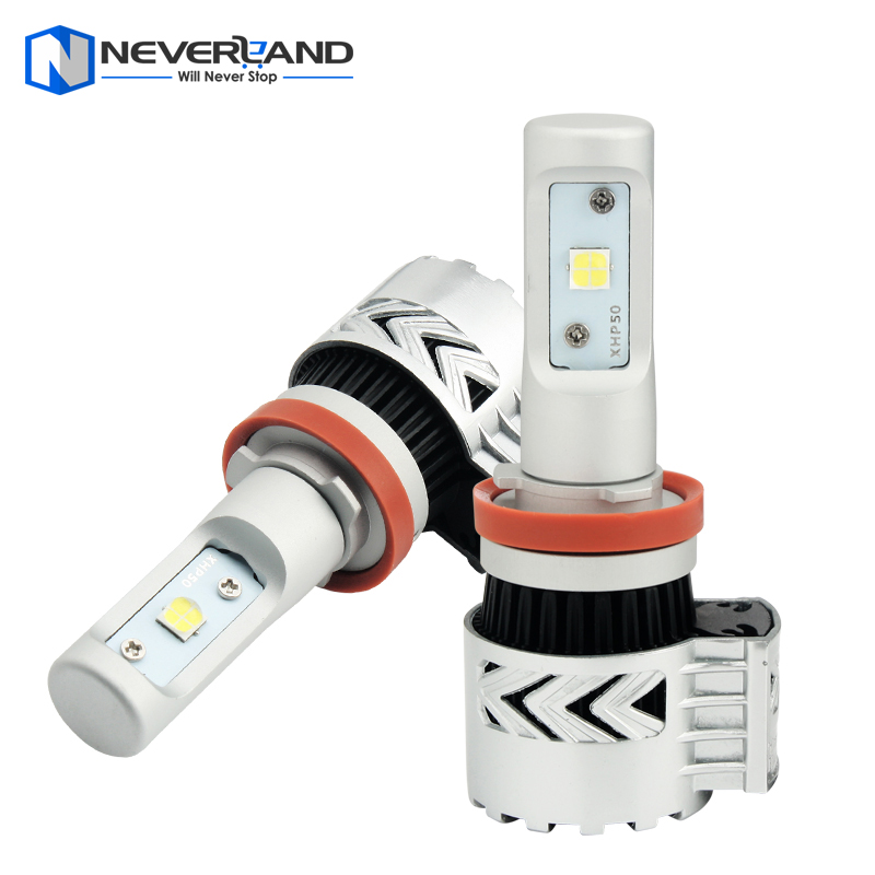2pcs H11 72W 12000LM 6500K with CREE LED Chips Car Headlight Conversion Kit Fog Lamp Bulb DRL Super White<br><br>Aliexpress