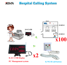 Wireless Nurse Calling Bell System Medical Emergency Service Call 2pcs K-4-C-USB 100pcs Button For Hospital(China)