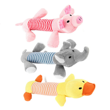 Dog Toys Pet Puppy Chew Toys Anti Bite Squeaker Squeaky Plush Sound Chewing Toys 13 Pattern Animals Toys For Dogs Pet Product(China)