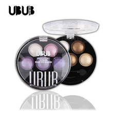 UBUB 5 Colors Eyeshadow Pallete Personal Use Women Facial Makeup Pigment Cosmetic Eye Shadow Natural Waterproof Long Lasting New